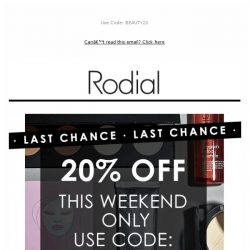 [RODIAL] Last Chance: 20% Off 🕒