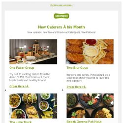 [CaterSpot] Check out this month's new caterers and promotions