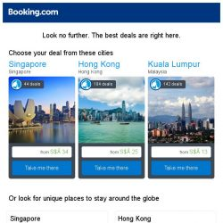 [Booking.com] Singapore, Hong Kong, or Kuala Lumpur? Get great deals, wherever you want to go