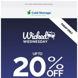 [Cold Storage] ⚡🍷 Wine Deals - 24 Hours Only!🍷⚡
