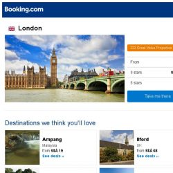[Booking.com] Deals in London from S$ 81