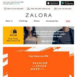 [Zalora] It's Your Last Chance: Buy 5 at S$60!