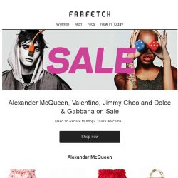 [Farfetch] Don't miss Alexander McQueen, Valentino and Jimmy Choo in the Sale