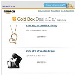 [Amazon] Save 25% on Diamond Jewelry