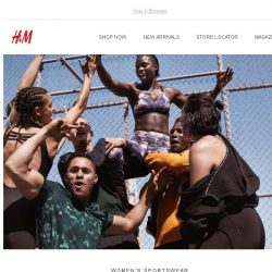 [H&M] A powerful sportswear collection