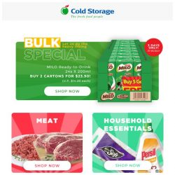 [Cold Storage] 3 Days Milo Specials & more Grocery Deals!