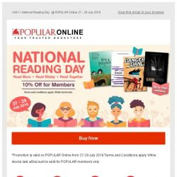 [Popular] National Reading Day @ POPULAR Online