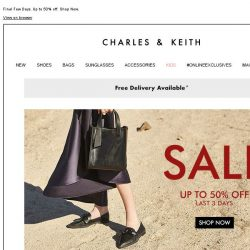 [Charles & Keith] CHARLES & KEITH | End-of-Season Sale – Last 3 days