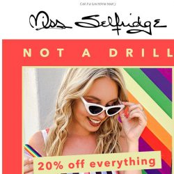 [Miss Selfridge] 🚨 20% OFF FOR 2 HOURS 🚨