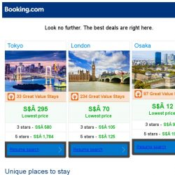 [Booking.com] Tokyo, London, or Osaka? Get great deals, wherever you want to go