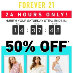 [FOREVER 21] It's Saturrrdaayyy!