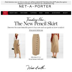 [NET-A-PORTER] The new pencil skirt to sharpen your look ✏️