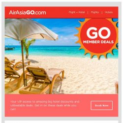 [AirAsiaGo] ❇ The Half Price Hotel Deals! ❇