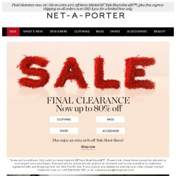 [NET-A-PORTER] Final Clearance: up to 80% off