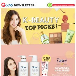 [Qoo10] FREE GIFTS INCLUDED! $12.90 [SOMEBYMI] Miracle Toner   $11.90 [DOVE Korea] AHS Moisture Oil Shampoo + Conditioner   Free Shipping
