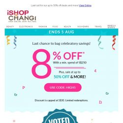 [iShopChangi] See what SG's tastemakers are getting at our High ✋ Sale!