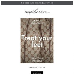 [mytheresa] 👠Exclusive 24-hour Shoe Club pre-shopping: your chance to get the latest styles first