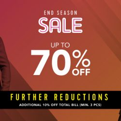 G2000: End Season Sale with Up to 70% OFF Storewide + Further Reductions of 10% OFF with Min. Purchase of 3 Pieces