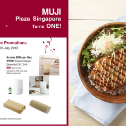 MUJI: Exclusive Promotions at Plaza Singapura + Enjoy Pork Katsu Donburi at only $10 (UP $15.90)!