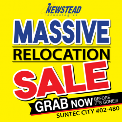 Newstead Technologies: Massive Relocation Sale with Up to 55% OFF Electronic & IT Products at Suntec City