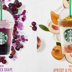 Starbucks: NEW Ruby Red Grape Frappuccino® & Apricot and Peach Yogurt Frappuccino® Blended Beverage