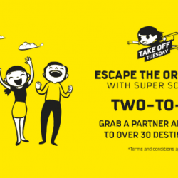 Scoot: Two-to-Go Extended Take Off Tuesday Sale with All-in Fares from $49 to Over 30 Destinations