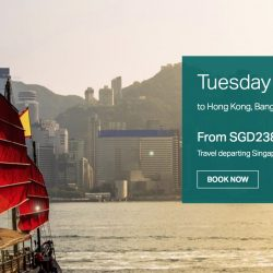 Cathay Pacific: Tuesday Friend Fares to Hong Kong, Bangkok, Taipei, Shanghai, Tokyo & More from S$238 All-in!