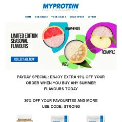 [MyProtein] Celebrate Payday with Our Limited Edition Flavours!