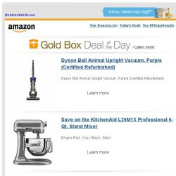 [Amazon] Dyson Ball Animal Upright Vacuum, Purple...