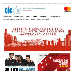 [SISTIC] Don't lepak one corner, we've got deals for you this August!