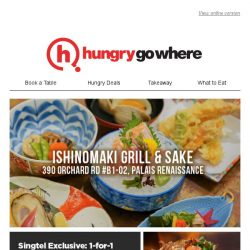 [HungryGoWhere] 1-for-1 9 Course Omakase Meal by Ishinomaki Grill & Sake, Exclusively for Singtel Customers