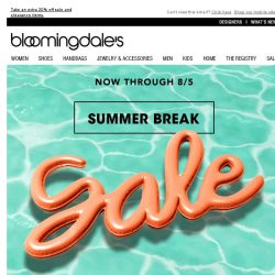 [Bloomingdales] Save up to 75%--4 days left!