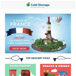 [Cold Storage] 🍷Taste of France & Grocery Deals for this weekend! 🎊