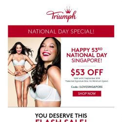 [Triumph] National Day Special Up to 53% Off!