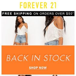 [FOREVER 21] ⚠️ IMMEDIATE Attention Required ⚠️