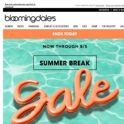 [Bloomingdales] Save up to 75%--ends today!