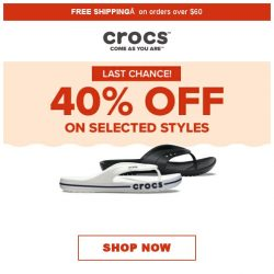 [Crocs Singapore] Look no further‼️ 40% off on Crocs' best items‼️