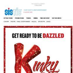 [SISTIC] Enjoy a fabulous $50 off tickets to see Kinky Boots this October! Limited time only.