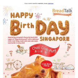 [BreadTalk] A Crab-tivating National Day Treat!