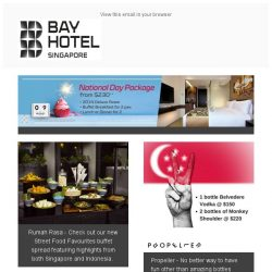 [Bay Hotel] Red and White Month at Bay