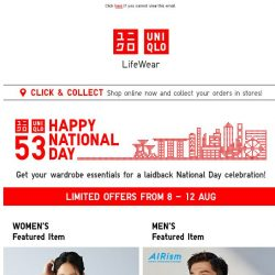 [UNIQLO Singapore] Let's celebrate this National Day!