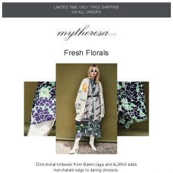 [mytheresa] How to style: floral dresses + free shipping