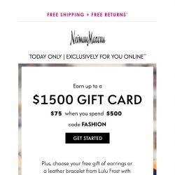 [Neiman Marcus] Shop these picks for you + get a gift card