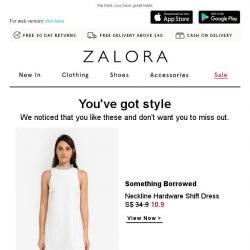 [Zalora] You were eyeing these items - trust your taste!