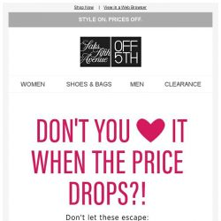 [Saks OFF 5th] Price drop alert! Grab your Versace Collection item NOW...