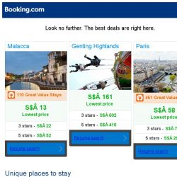 [Booking.com] Malacca, Genting Highlands, or Paris? Get great deals, wherever you want to go