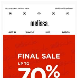 [Mdreams] Final call - up to 70% off + extra 15% discount