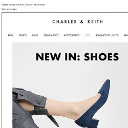 [Charles & Keith] Check out what's new in shoes