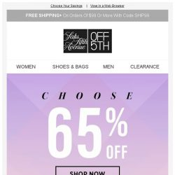 [Saks OFF 5th] PRICE DROP alert for your Versace Collection item! + Up to 85% OFF is yours for the taking