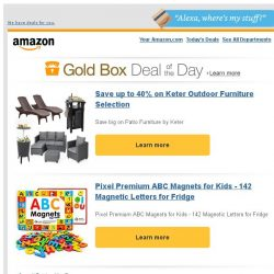[Amazon] Save up to 40% on Keter Outdoor Furniture...